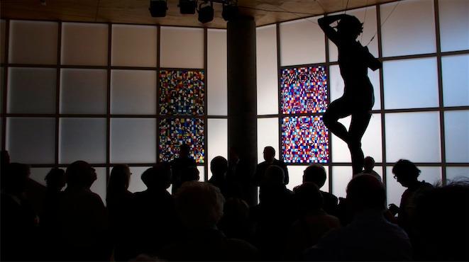Inauguration des vitraux  de Sergio de Castro le 25 mai 2012